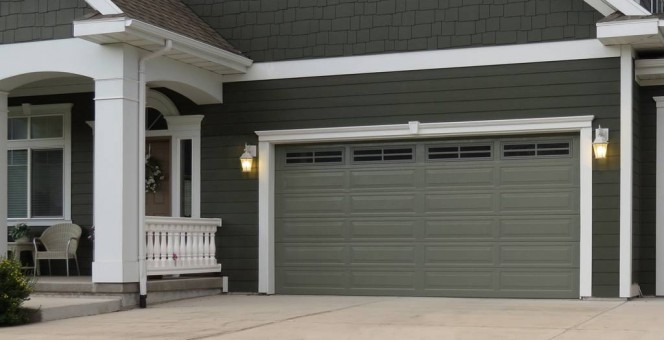 Long Panel CityScape Garage Doors