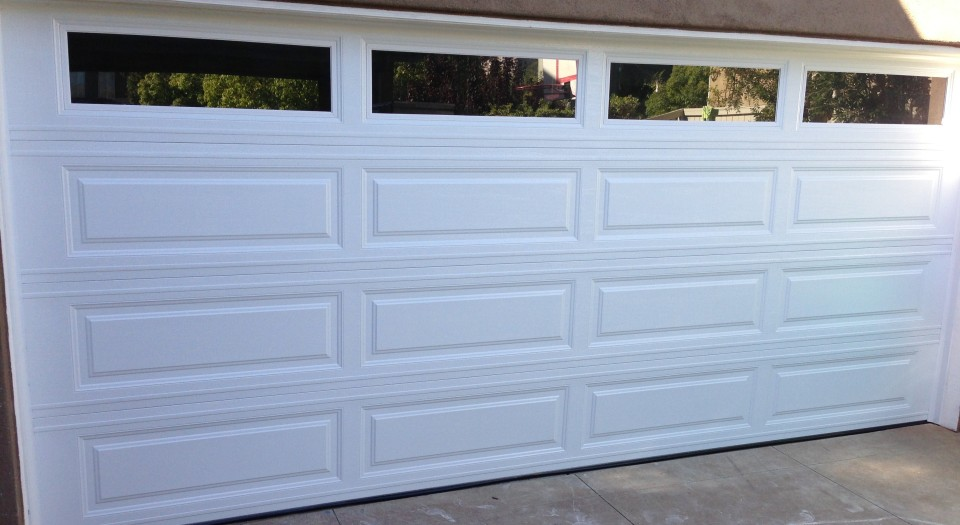Picture of a newly installed garage door