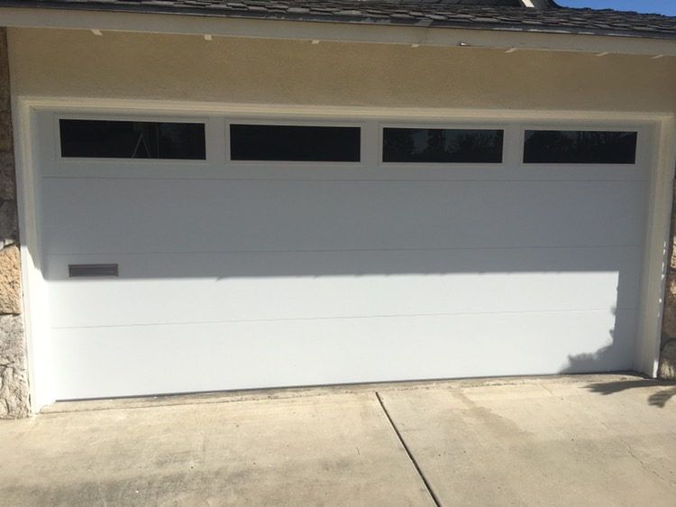 Attirant Door With Tinted Windows And A Mail Slot Cut In. Emergency After Hours Garage  Door ...