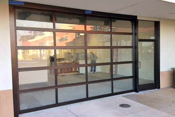 Glass Doors Cityscape Garage Doors