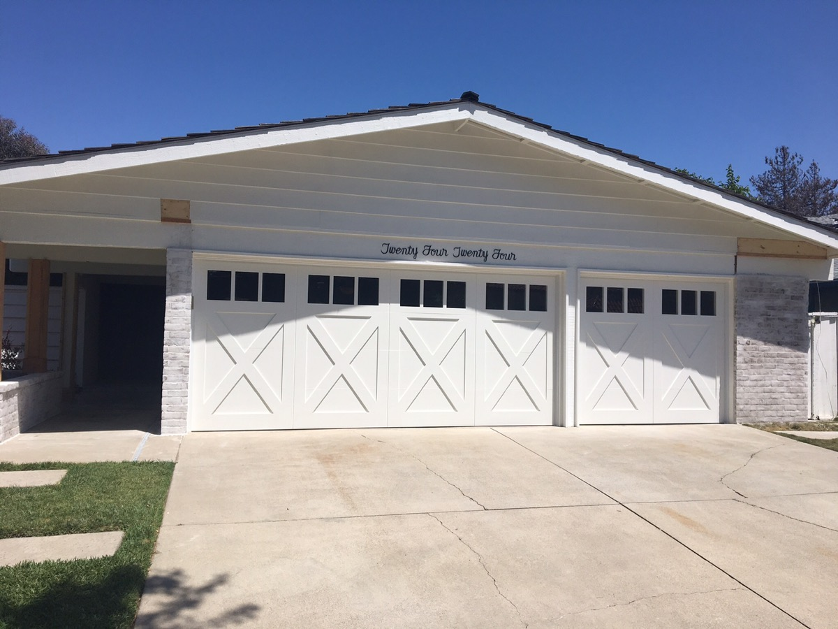 Custom Wood Garage Doors In Newport Beach CityScape