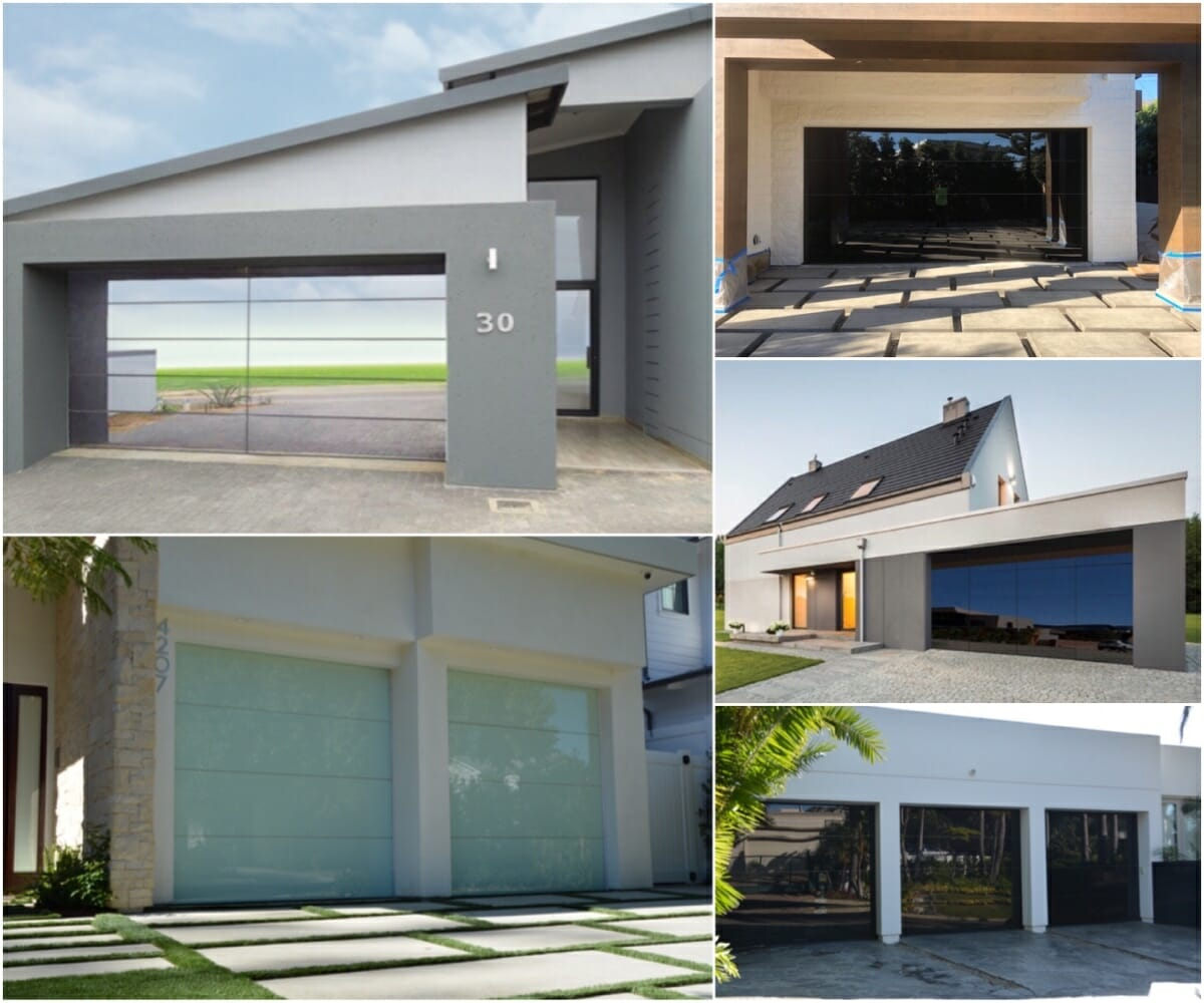 Contemporary EL150 Garage Doors From Elegant