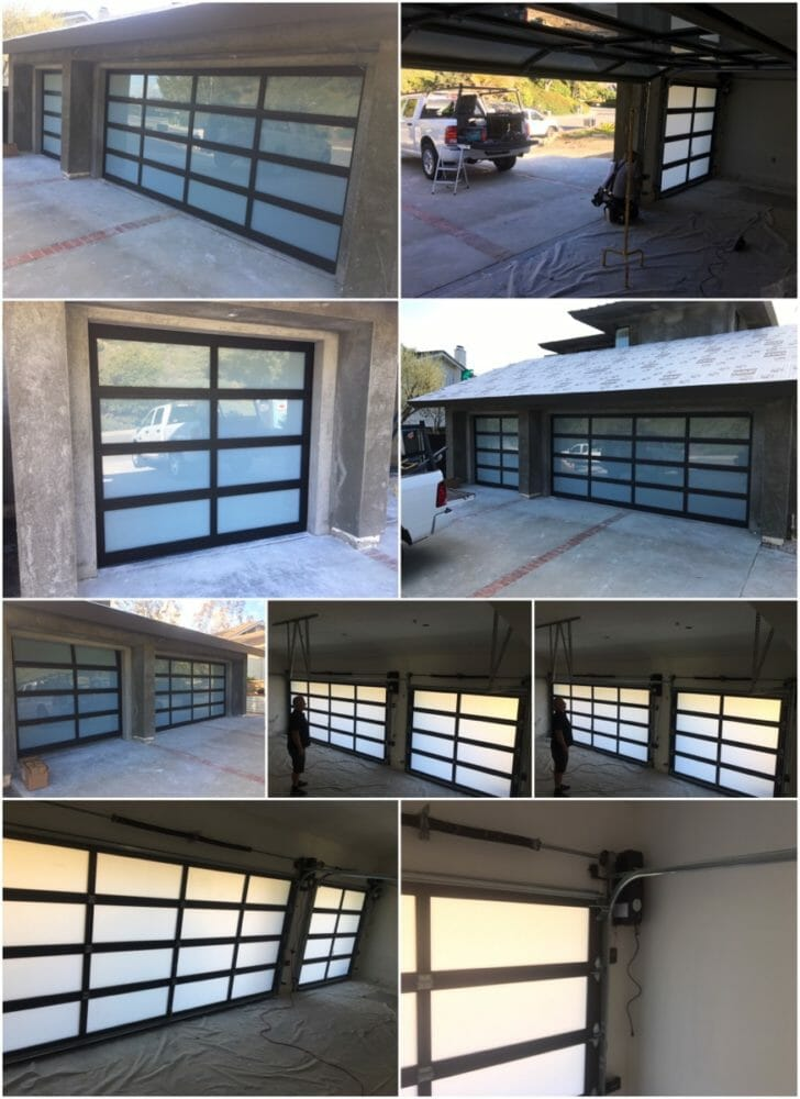 New Glass Garage Doors and LiftMaster 8500w Installations In Laguna Niguel
