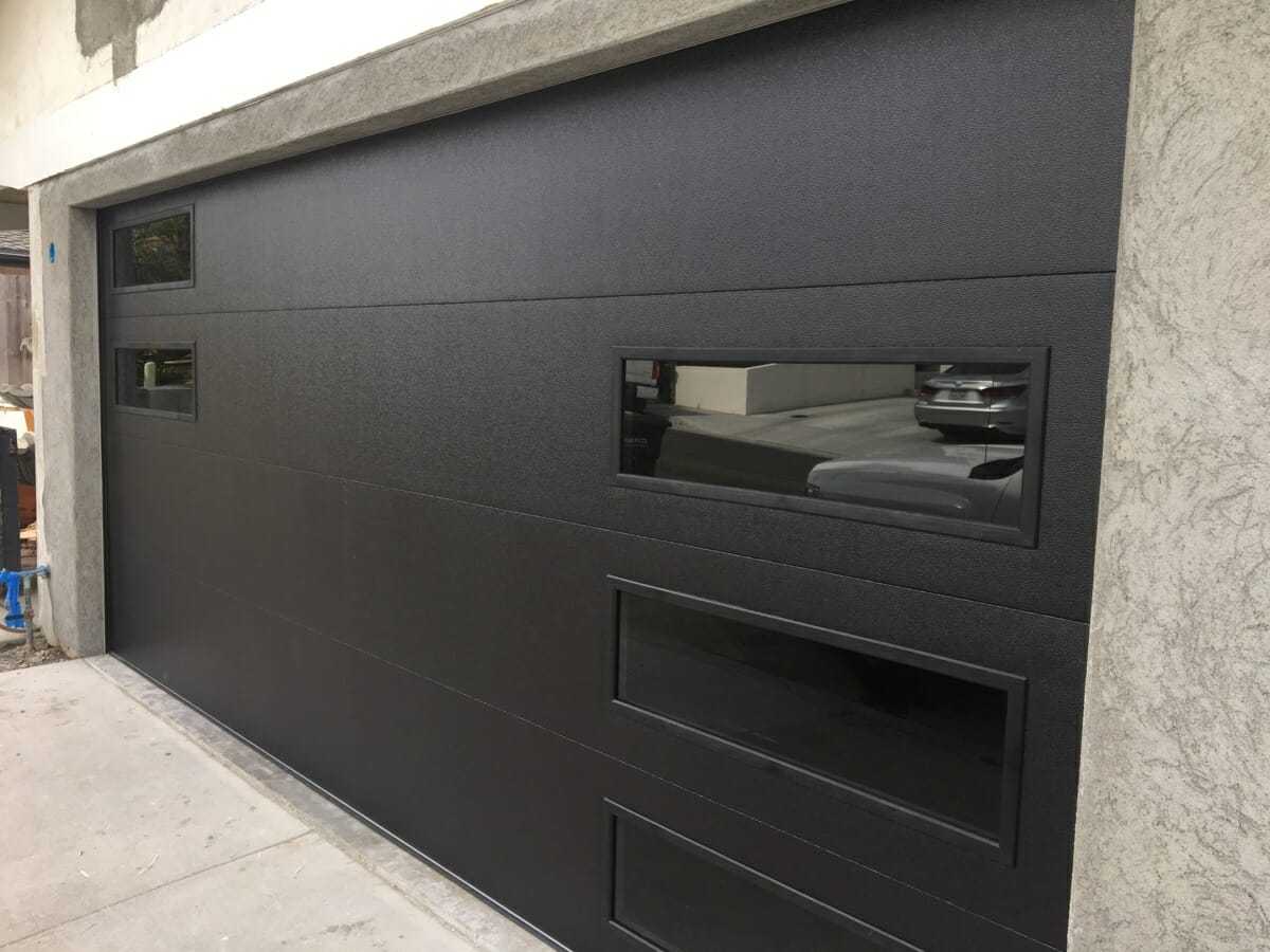 Black Chi Door With Black Windows In San Clemente