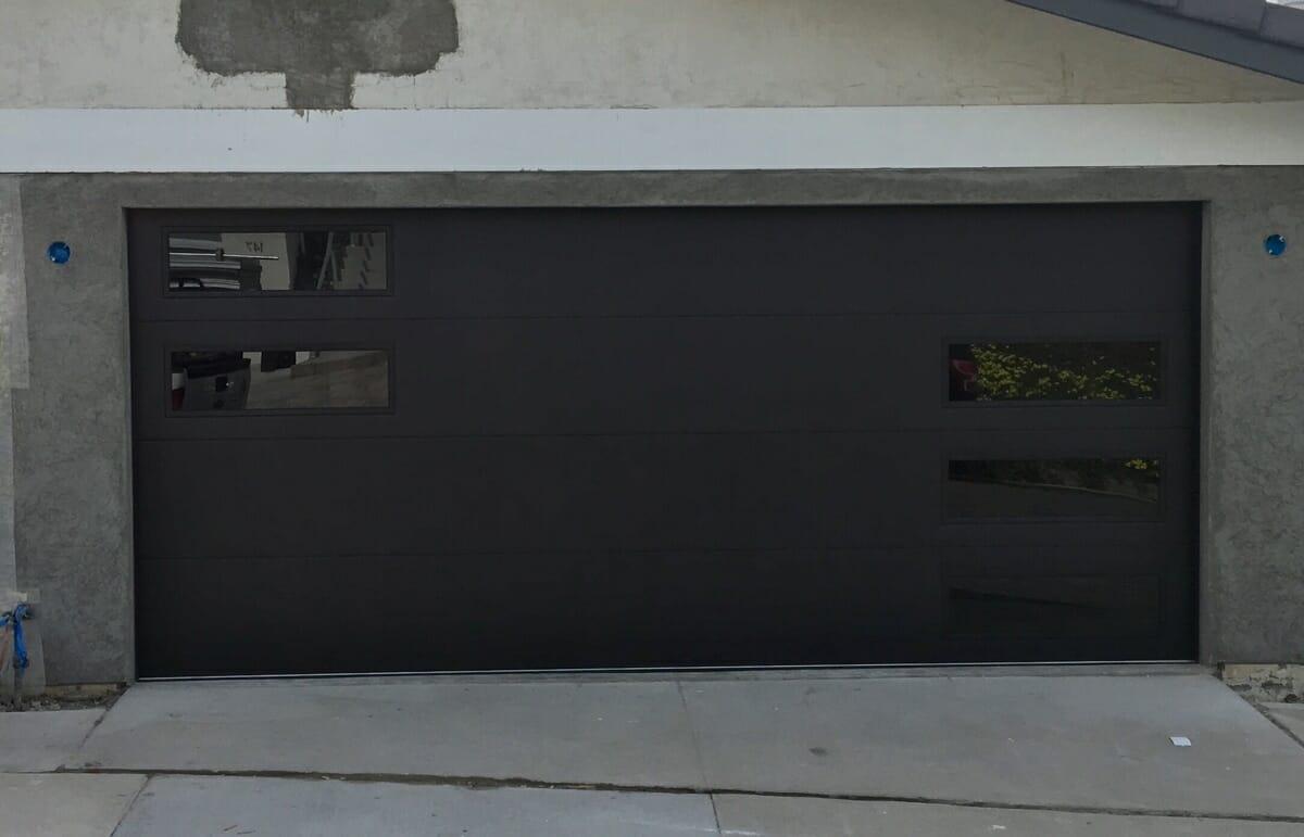 Black CHI Door with Black Windows in San Clemente