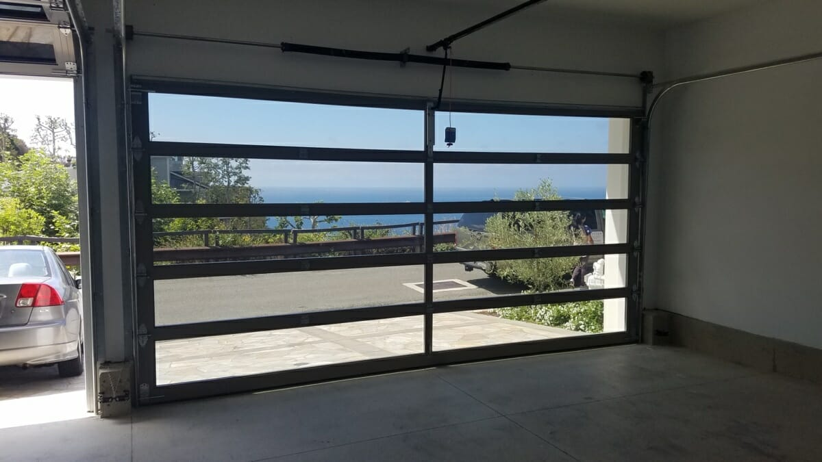 Glass Doors and LiftMasters Installed In Laguna Beach