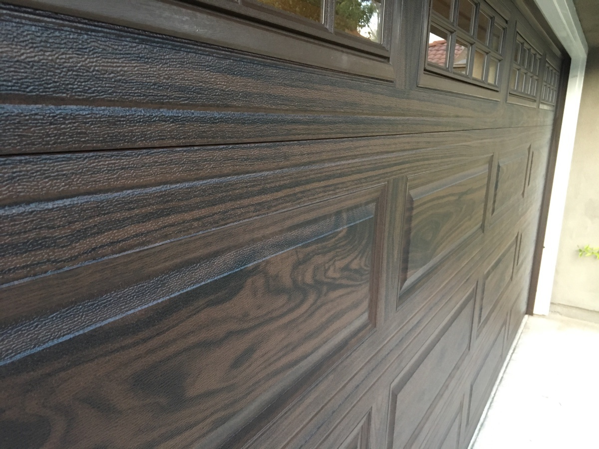 CHI Walnut, Color Garage Door Installed In Irvine